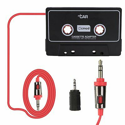 Cassette Car Audio AUX Stereo Tape Adapter Cable Cord for iPhone CD DVD Black