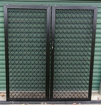 Double sliding screen door aluminium 2025mm x 920mm each for Double sliding screen door