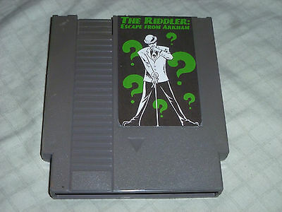 The Riddler Escape From Arkham Homebrew Cart Game Nintendo Nes