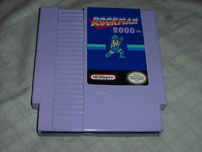Rockman Rock Man 2000 Homebrew Cart Game Nintendo Nes Megaman Mega Man