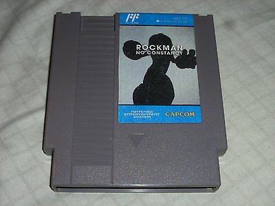 Rockman No Constancy Homebrew Cart Game Nintendo Nes Ika 2007 Megaman