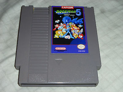 Megaman Rockman 5 Wilys Dream Space Homebrew Cart Game Nintendo Nes Rocket Dog