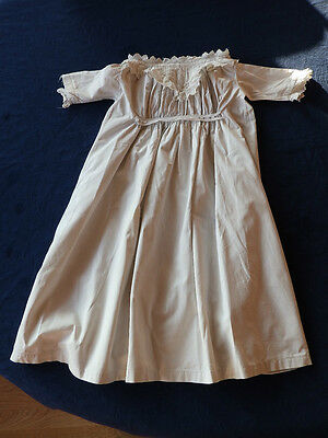 Original Victorian baby clothes, babies dress with damaged smocking band