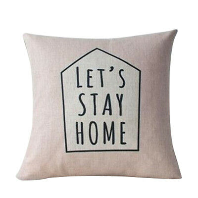Nordic Deer Animal Quote Balloon Linen Pillow Case Decorative Cushion Cover F8P3