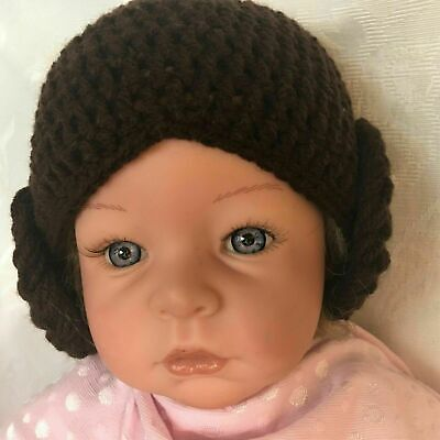 ***Made To Order Girl's Star Wars Princess Leia Crochet  Hat all sizes***