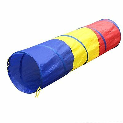Children tricolor tunnel toy tent M1K5