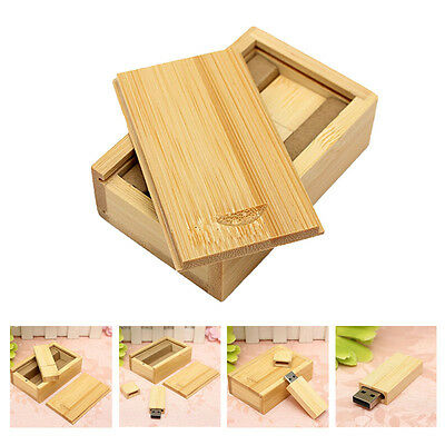 Wooden USB 2.0 Flash Drive Pen Drive U Disk Memory Sticks Thumb 4GB Gift L5B5