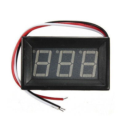 Mini Digital Voltmeter Panel meter LED Voltage Indicator with 3 Cable DC 0- T3A2