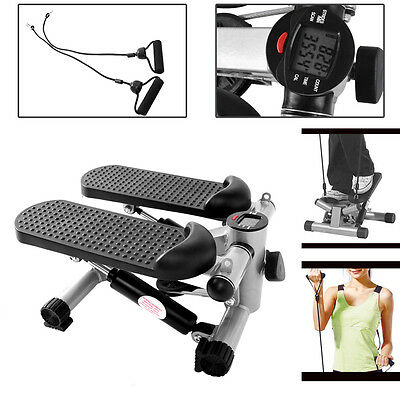 Aerobic Exercise Mini Stepper Machine Workout Fitness Air Stair Climber Black
