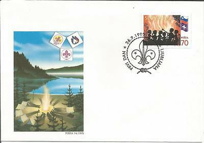Slovenia  1995  Scouts Guides  Ljubljana  Posta 14/1995  FDI FDC First Day Cover