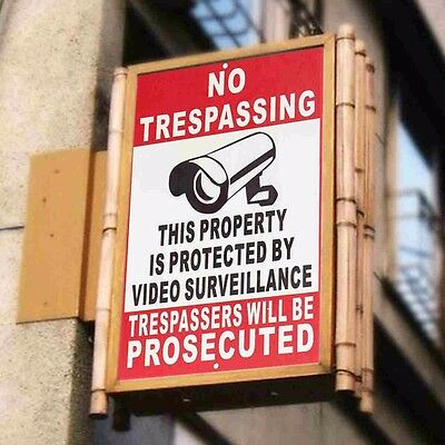 Property Protected By Video Surveillance Warning Security Metal Sign Sticker