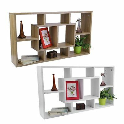 8 Compartment Floating Wall Storage Display Shelves Wall Mount Display Shelf SQ