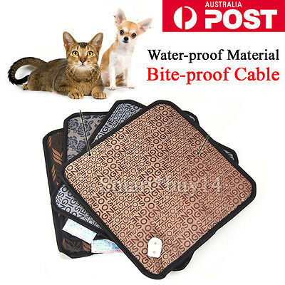 AU Pet Electric Heat Heated Heating Pad Mat Blanket Bed Dog Cat Bunny Waterproof