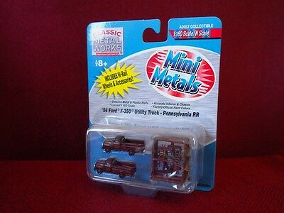 *NEW* N scale Mini Metals Ford F-350 Pennsylvania RR Utility Truck pack of 2