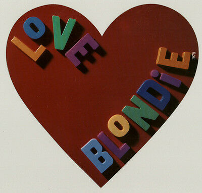 RARE Vintage 1978 LOVE BLONDIE Heart Valentines Day display Debbie Harry Heart
