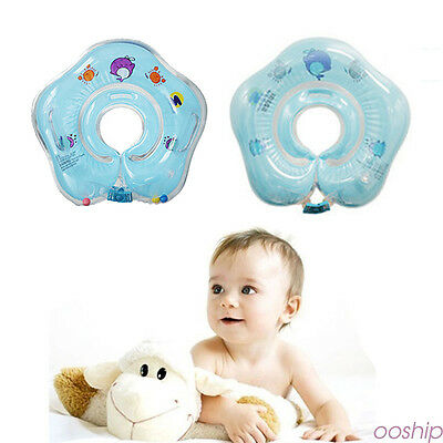 Baby Kids Child Bath Infant Swimming Neck Float Inflatable Safety Ring Tube
