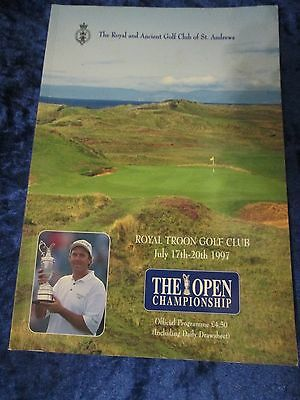 The Open Golf Championship Royal Troon Golf Club Official Programme 1997