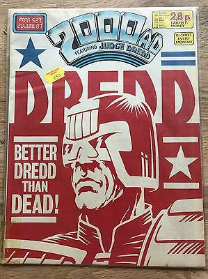 VINTAGE 2000 AD JUDGE DREDD 20 JUNE 1987 COMIC No 527