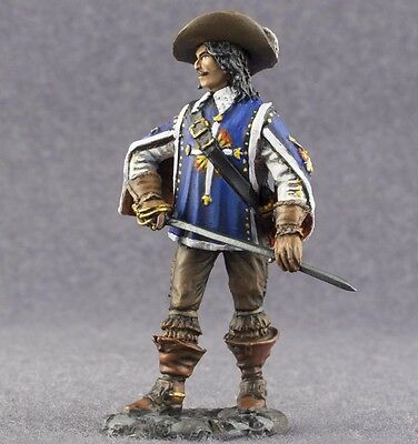 Royal Musketeer Infantry Man 1/32 Painted Tin Miniature Figure Toy Soldiers 54mm