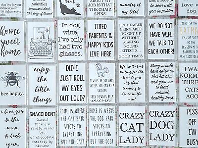 Rectangle Inspirational Quotes Vintage Funny Pets Friends Mum Dad Fridge Magnets