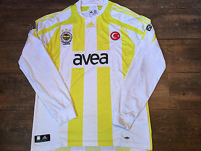 2007 2008 Fenerbahce L/s Centenary Football Shirt Adults Large Top Turkey