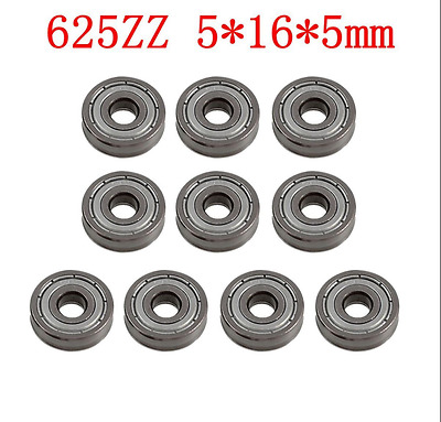10 pcs 625 625ZZ Miniature Ball Bearings Mini ingle Row Deep Groove 5mm*16mm*5mm