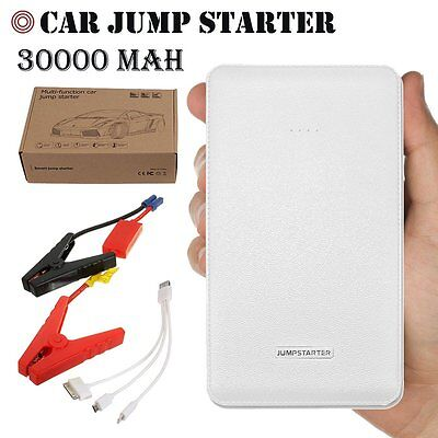 Portable Power Bank Car Jump Starter Pack Booster Charger Battery 12V 30000mAh