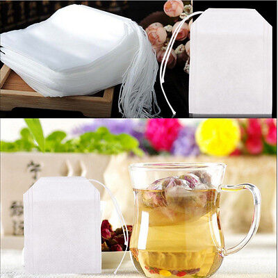 500/1000PCS Empty Tea Bags String Heat Seal Filter Paper Herb Loose Teabags
