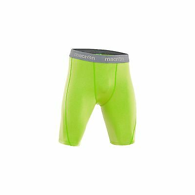 MACRON QUINCE FLUO YELLOW BASELAYER SHORTS - Various Sizes Available