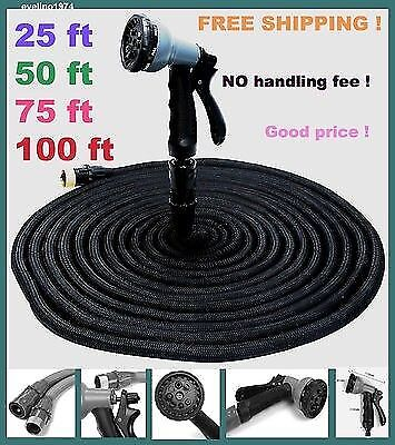 Quality 25/50/75/100 FT Magic Flexible Expandable Garden Water Hose with Pistol