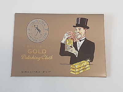 Town Talk GOLD jewellery CLEANING & POLISHING cloth 17cms x 12.5cms NEW