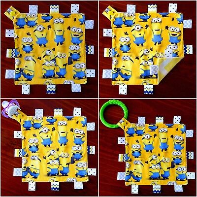 Minions Mini Size TaGgie Security Blanket Toy Comforter dummy clip holder