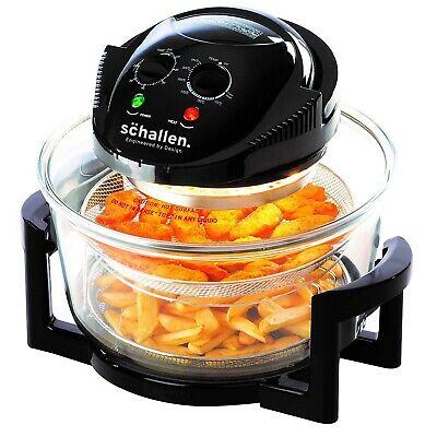 Daewoo 2 in 1 Deluxe Glass Air Fryer Deep Fat Free Frying Healthy No Oil Cooker