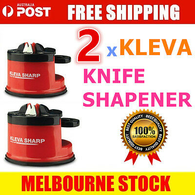 2x Knife Sharpener KLEVA Sharpner Sharp Diamond For Knives Blades Scissors Tools