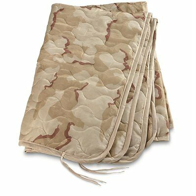 new Military Style Wet Weather Poncho Liner Blanket Woobie 3 Color Desert Camo
