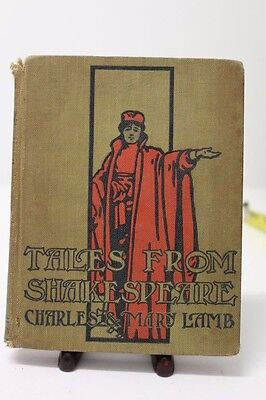 Antique Vintage Tales From Shakespeare Book by Charles & Mary Lamb ~ 1901