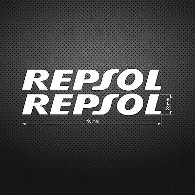 REPSOL STICKER DIE CUT DECAL VINYL RACING 2 pcs