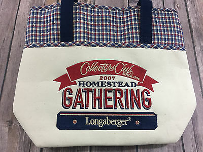 Longaberger Collectors Club 2007 Homestead Gathering Tote Bag NEW NWT
