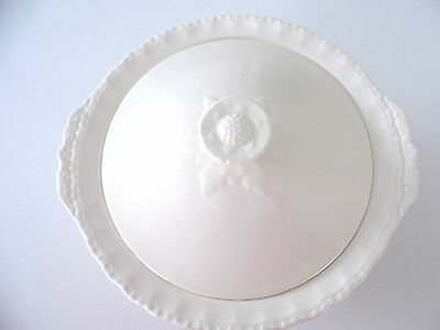 Grindley Gream Petal Serving Dish With Lid 1950's