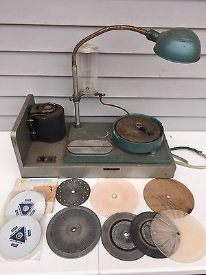 Henry B. Graves: Mark I 1 Gem Faceting Cutting Lapidary Machine w/ Extra Discs