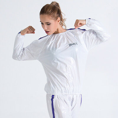 Man Woman Unisex Fitness Loss Weight Sauna Suit Slimmer Slim Exercise Workout