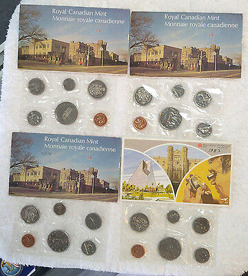 Canada 1973, 1975, 1976, 1983 mint sets - Free Shipping