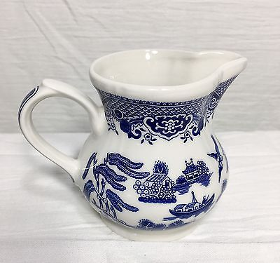 Mint Vintage Blue & White Churchill China Creamer - Blue Willow ENGLAND