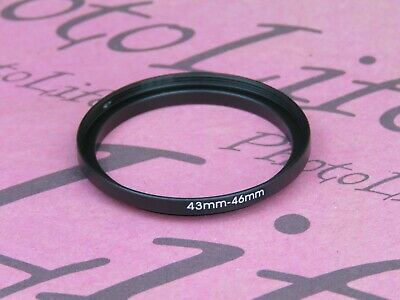 43mm to 46mm Stepping Step Up Filter Ring Adapter 43mm-46mm UK