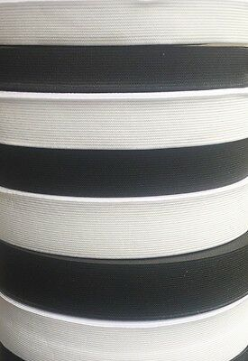 Flat Professional Grade Woven Sewing Elastic White or Black 24 HOUR DISPATCH