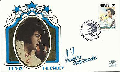 Elvis Presley - First Day Cover 034 Rock 'n' Roll Greats Stamped In Charlestown