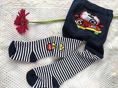 Baby Boy Tights very soft Cars Design