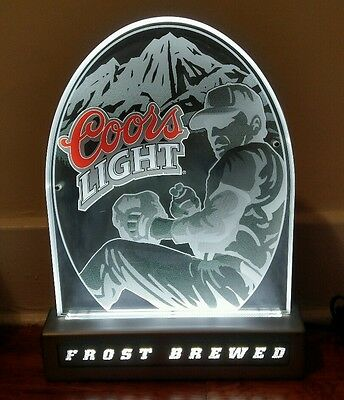 2002 Collectible Coors Light MLB Baseball Frost Brewed Light Up Sign. RARE