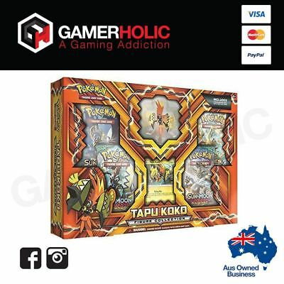 POKEMON TCG Tapu Koko Figure Collection - Includes 4 booster packs PREORDER