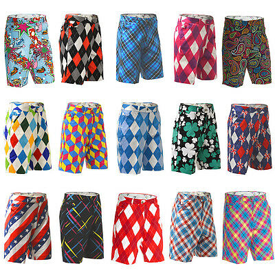 Golf Shorts by Royal and Awesome Funky Lound Crazy Bright Awesome Paterns
